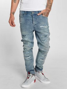 DEF Straight Fit Jeans Carl, modrá - 256427
