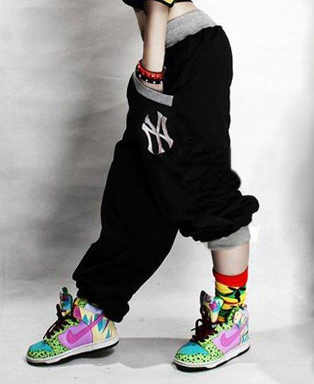 2abfec5678f Dětské hip hop tepláky Harlem Black - 030001